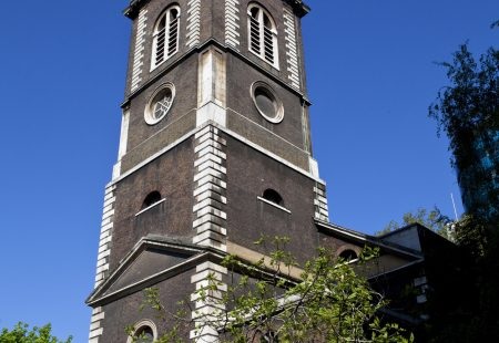 The historic St. Botolph's Aldgate church in London.